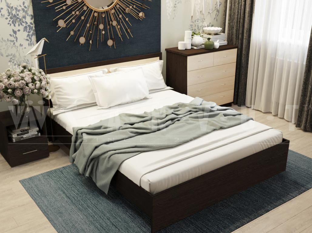 Кровать с основанем Sanvut КВ1600